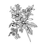 Prima - Christine Aldolph - Cling Mounted Stamps - Cheerful Bloom