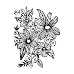 Prima - Christine Aldolph - Cling Mounted Stamps - Daisy May