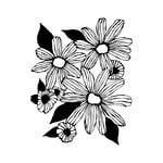Prima - Christine Aldolph - Cling Mounted Stamps - Daisy Trio