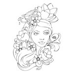 Prima - Bloom Collection - Bloom Girl - Cling Mounted Stamp - Paige