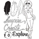 Prima - Bloom Collection - Bloom Girl - Clear Acrylic Stamp - Inspire Create Explore