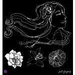 Prima - Bloom Collection - 12 x 12 Stencil Mask - Gardenia