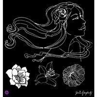 Prima - Bloom Collection - 12 x 12 Stencil Mask - Gardenia