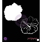Prima - Bloom Collection - 6 x 6 Stencil - Hibiscus