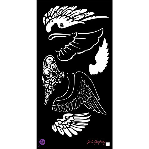 Prima - Bloom Collection - 6 x 12 Stencil - Wings