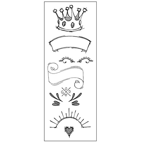 Prima - Creating In Faith Collection - Cling Mounted Stamps - Royal