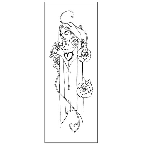 Prima - Creating In Faith Collection - Cling Mounted Stamps - Mary