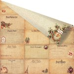 Prima - A Victorian Christmas Collection - 12 x 12 Double Sided Paper with Gold Foil Accents - Le Sapin de Noel