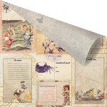 Prima - French Riviera Collection - 12 x 12 Double Sided Paper - Un Petit Mot De La Mer