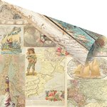 Prima - French Riviera Collection - 12 x 12 Double Sided Paper - Journées De Rêves et Aventures