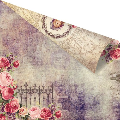 Prima - Tales of You and Me Collection - 12 x 12 Double Sided Paper - Notre Jardin Secret