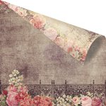 Prima - Tales of You and Me Collection - 12 x 12 Double Sided Paper - Jardin de Fleurs