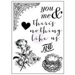 Prima - Tales of You and Me Collection - Clear Acrylic Stamps - Mix 2