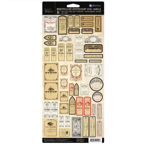 Prima - Memory Hardware - Montpellier Apothecary Vial Labels