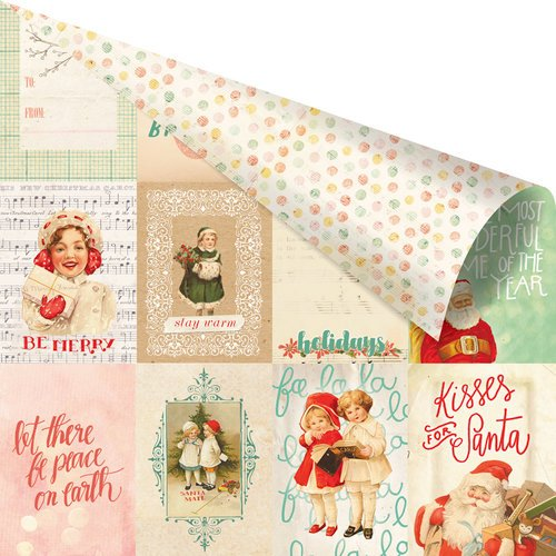 Prima - Sweet Peppermint Collection - Christmas - 12 x 12 Double Sided Paper with Foil Accents - The Most Wonderful Time of the Year