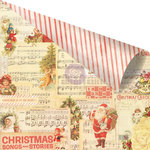 Prima - Sweet Peppermint Collection - Christmas - 12 x 12 Double Sided Paper with Foil Accents - No Peeking