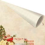 Prima - Sweet Peppermint Collection - Christmas - 12 x 12 Double Sided Paper with Foil Accents - Naughty or Nice