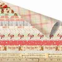 Prima - Sweet Peppermint Collection - Christmas - 12 x 12 Double Sided Paper with Foil Accents - Sweet Peppermint