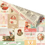 Prima - Sweet Peppermint Collection - Christmas - 12 x 12 Double Sided Paper - Countdown to Christmas
