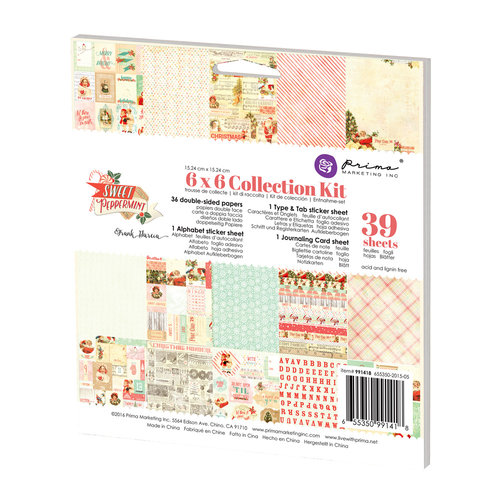 Prima - Sweet Peppermint Collection - Christmas - 6 x 6 Collection Kit