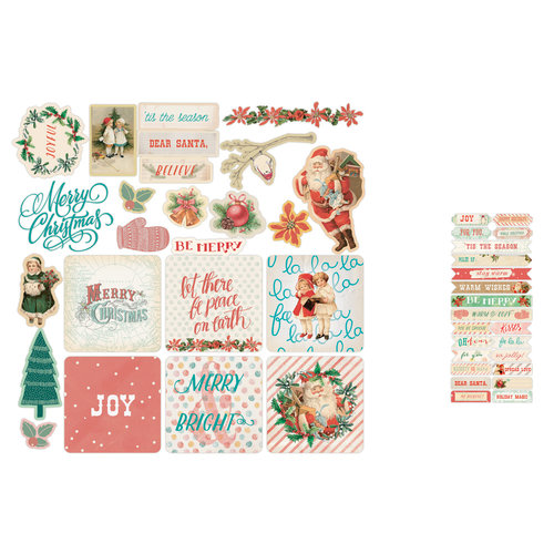 Prima - Sweet Peppermint Collection - Christmas - Ephemera