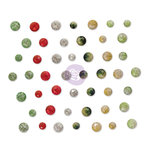 Prima - Sweet Peppermint Collection - Christmas - Say It In Crystals - Self Adhesive Jewels