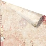 Prima - Love Clippings Collection - 12 x 12 Double Sided Paper - Always and Forever with Rose Gold Foil Accents
