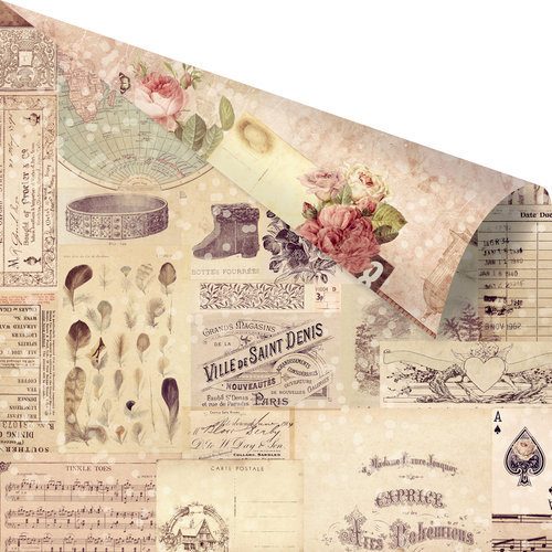 Prima - Wild and Free Collection - 12 x 12 Double Sided Paper - Let's Be Wild with Rose Gold Foil Accents