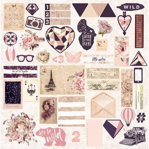 Prima - Wild and Free Collection - Ephemera with Rose Gold Foil Accents
