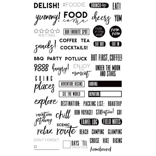 Prima - Frank Garcia - Clear Acrylic Stamps - Food and Travel