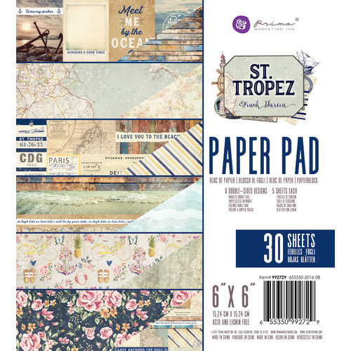 Prima - St. Tropez Collection - 6 x 6 Paper Pad