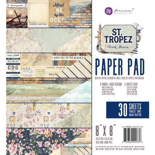 Prima - St. Tropez Collection - 8 x 8 Paper Pad
