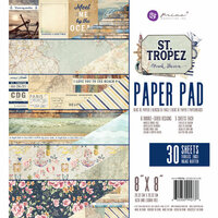 Prima - St. Tropez Collection - 8 x 8 Paper Pad