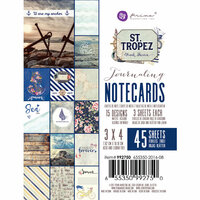 Prima - St. Tropez Collection - 3 x 4 Journaling Cards