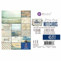 Prima - St. Tropez Collection - 4 x 6 Journaling Cards