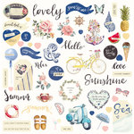 Prima - St. Tropez Collection - Ephemera with Foil Accents