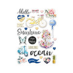 Prima - St. Tropez Collection - Puffy Stickers