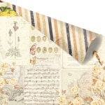 Prima - Amber Moon Collection - 12 x 12 Double Sided Paper - Autumn Sunset with Foil Accents