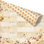 Prima - Amber Moon Collection - 12 x 12 Double Sided Paper - Fall Postcards from Paris with Foil Accents