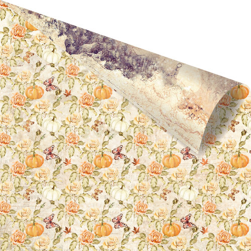 Prima - Amber Moon Collection - 12 x 12 Double Sided Paper - Into the Woods with Foil Accents