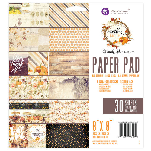 Prima - Amber Moon Collection - 8 x 8 Paper Pad