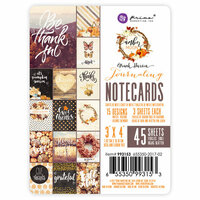 Prima - Amber Moon Collection - 3 x 4 Note Cards