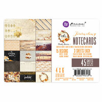 Prima - Amber Moon Collection - 4 x 6 Note Cards