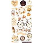 Prima - Amber Moon Collection - Chipboard Stickers and More with Foil Accents