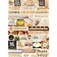 Prima - Amber Moon Collection - Cardstock Stickers - Words with Foil Accents