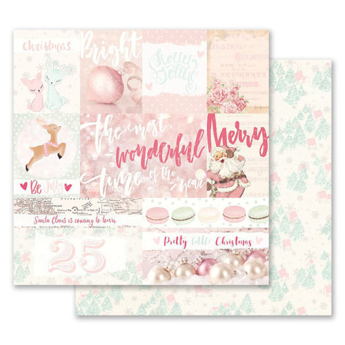 Prima - Santa Baby Collection - Christmas - 12 x 12 Double Sided Paper - Pretty Little Christmas