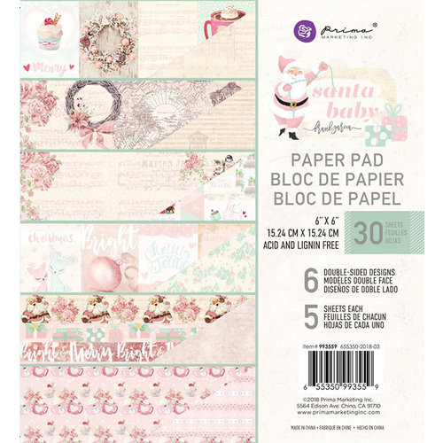 Prima - Santa Baby Collection - Christmas - 6 x 6 Paper Pad