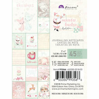 Prima - Santa Baby Collection - Christmas - 3 x 4 Journaling Cards