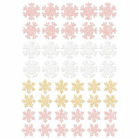 Prima - Santa Baby Collection - Christmas - Glitter Stickers - Snowflakes