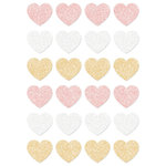 Prima - Santa Baby Collection - Christmas - Glitter Stickers - Hearts